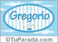 Nombre Gregorio de bebé, para imprimir
