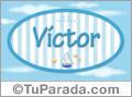 Nombre Victor de bebé, para imprimir
