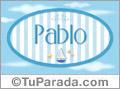 Nombre Pablo de bebé, para imprimir