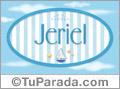 Jeriel, nombre de bebé, nombre de niño