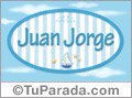 Juan Jorge, nombre de bebé, nombre de niño