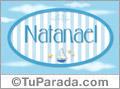 Nombre Natanael de bebé, para imprimir