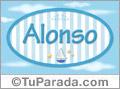 Nombre Alonso de bebé, para imprimir