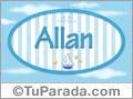 Nombre Allan de bebé, para imprimir
