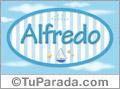 Nombre Alfredo de bebé, para imprimir