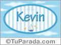 Nombre Kevin de bebé, para imprimir