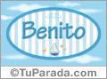 Nombre Benito de bebé, para imprimir
