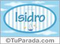 Nombre Isidro de bebé, para imprimir
