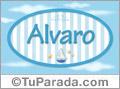 Nombre Alvaro de bebé, para imprimir