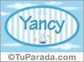 Nombre Yancy de bebé, para imprimir