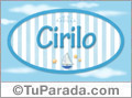 Nombre Cirilo de bebé, para imprimir