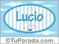 Lucio, nombre de bebé, nombre de niño