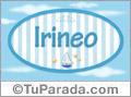Irineo, nombre de bebé, nombre de niño