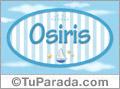 Nombre Osiris  de bebé, para imprimir
