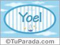 Yoel, nombre de bebé, nombre de niño