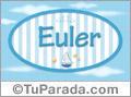 Euler, nombre de bebé, nombre de niño