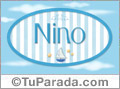Nino, nombre de bebé, nombre de niño