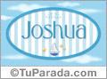 Nombre Joshua de bebé, para imprimir
