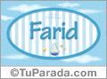 Farid, nombre de bebé, nombre de niño