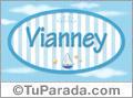 Nombre Vianney de bebé, para imprimir