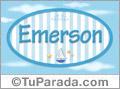 Nombre Emerson de bebé, para imprimir