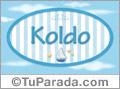 Koldo, nombre de bebé, nombre de niño