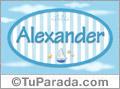 Nombre Alexander de bebé, para imprimir