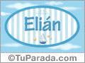 Elián, nombre de bebé, nombre de niño