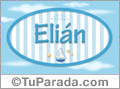 Nombre Elián de bebé, para imprimir