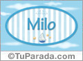 Nombre Milo de bebé, para imprimir