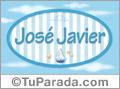 José Javier, nombre de bebé, nombre de niño