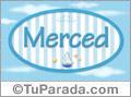 Merced, nombre de bebé, nombre de niño