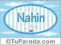 Nahin, nombre de bebé, nombre de niño