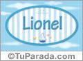 Nombre Lionel de bebé, para imprimir