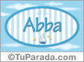 Abba , nombre de bebé, nombre de niño