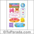 Mayte - Para stickers