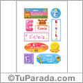 Estela - Para stickers