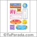 María Virtudes - Para stickers