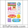 Mariana - Para stickers