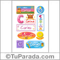 Carina - Para stickers