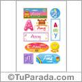 Amy - Para stickers