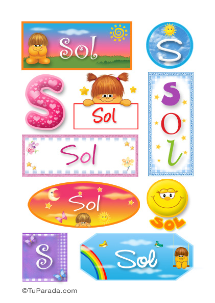 Stickers sol