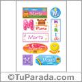 Marta - Para stickers