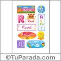 René - Para stickers