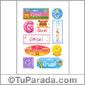 Gisel - Para stickers
