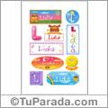 Lidia - Para stickers
