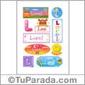 Lorel, nombre para stickers