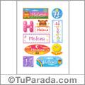 Helena, nombre para stickers