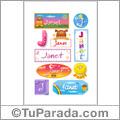 Nombre Janet para stickers
