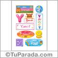 Nombre Yanet para stickers